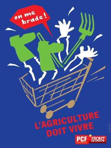 Vente de fruits et légumes du PCF au juste prix - interview d'Olivier Dartigolles, porte-parole du PCF, place de la Bastille