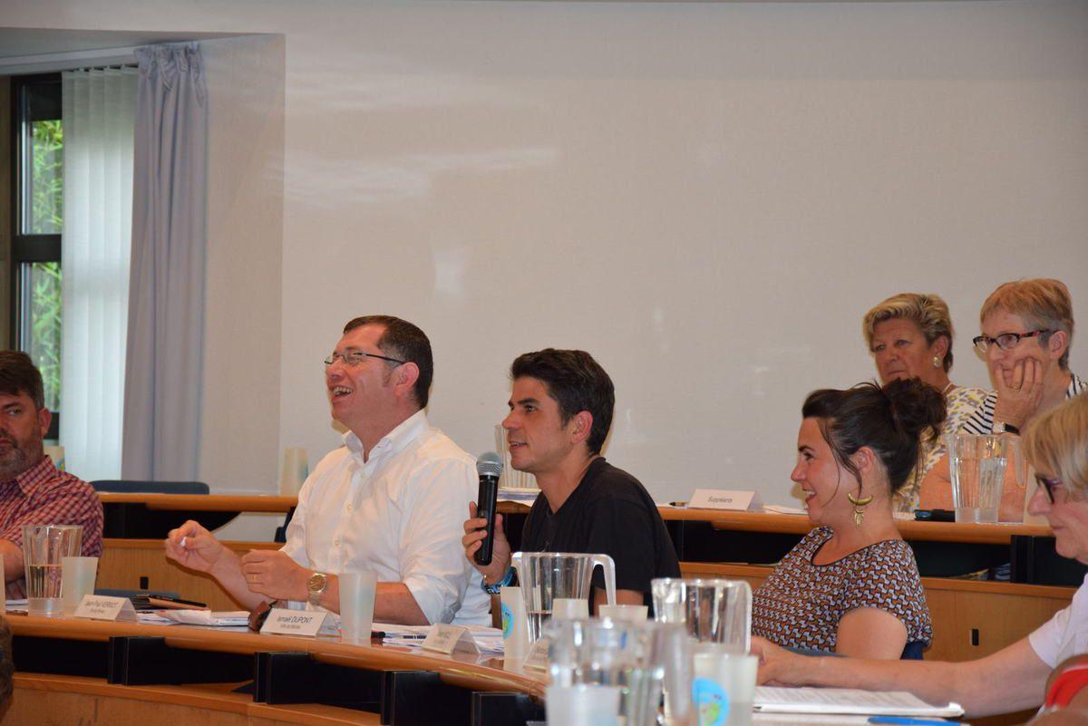 photo Pierre Yvon Boisnard, 12 septembre 2016: Jean-Paul Vermot, Ismaël Dupont et Sarah Noll