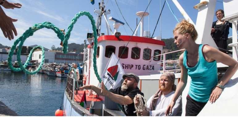 Un bateau de femmes pour briser le blocus à Gaza fait escale en France (9 septembre, plateforme des ONG pour la Palestine)
