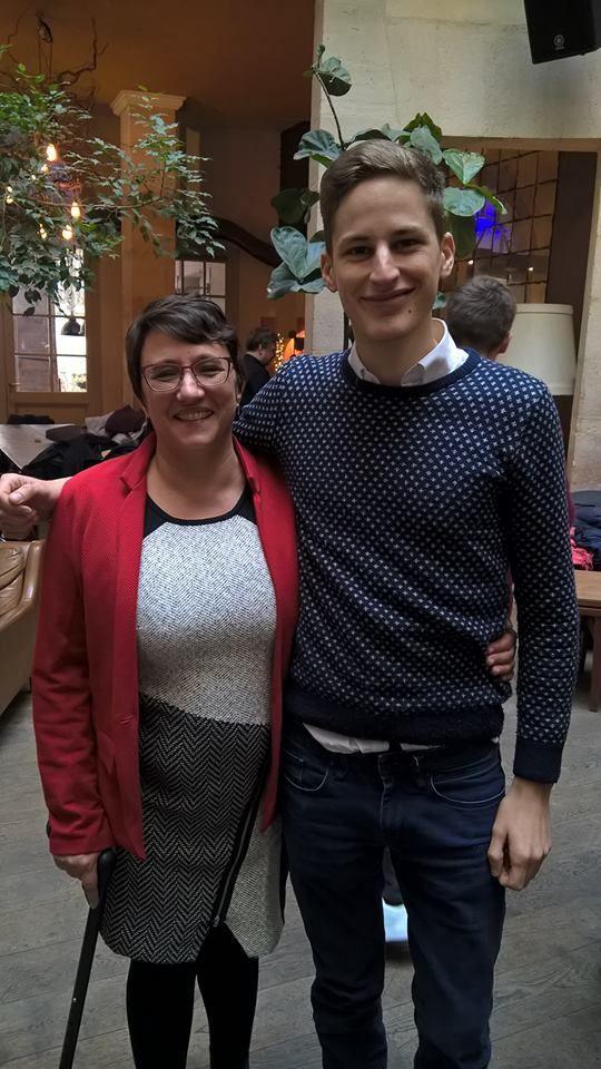 Catherine Fromage et Maxime Cochard (candidat PCF-Front de Gauche à Paris)