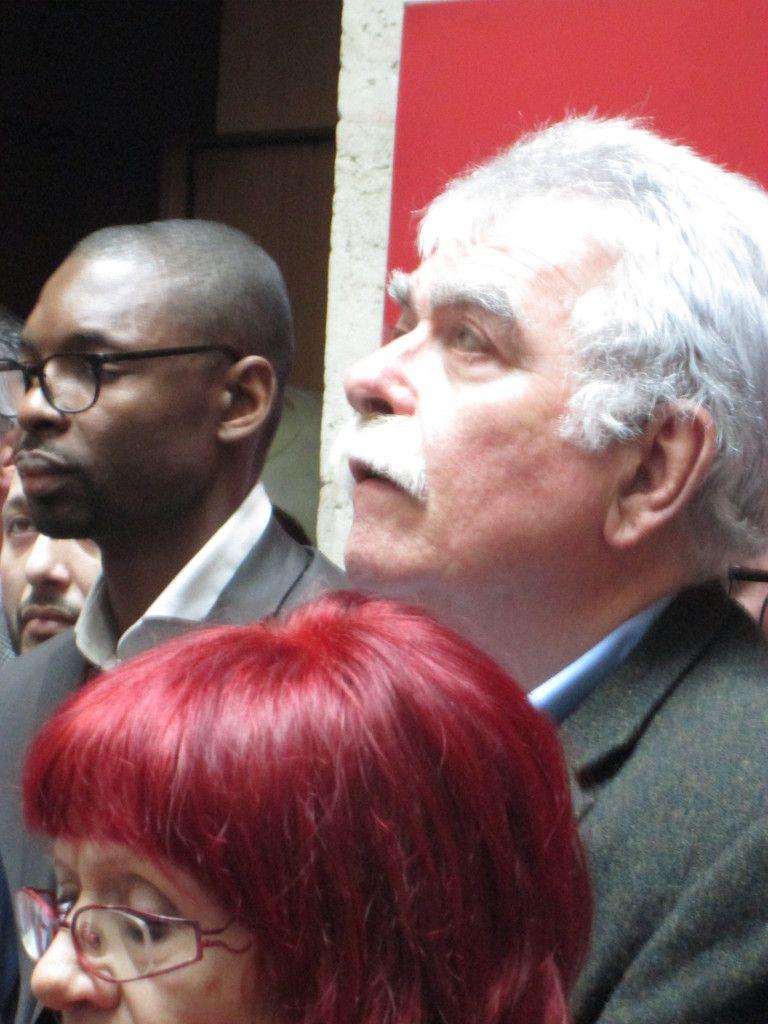 André Chassaigne, et Lamine Camara, candidat communiste-Front de Gauche sur la circonscription des Français de l'étranger (Afrique de l'ouest)