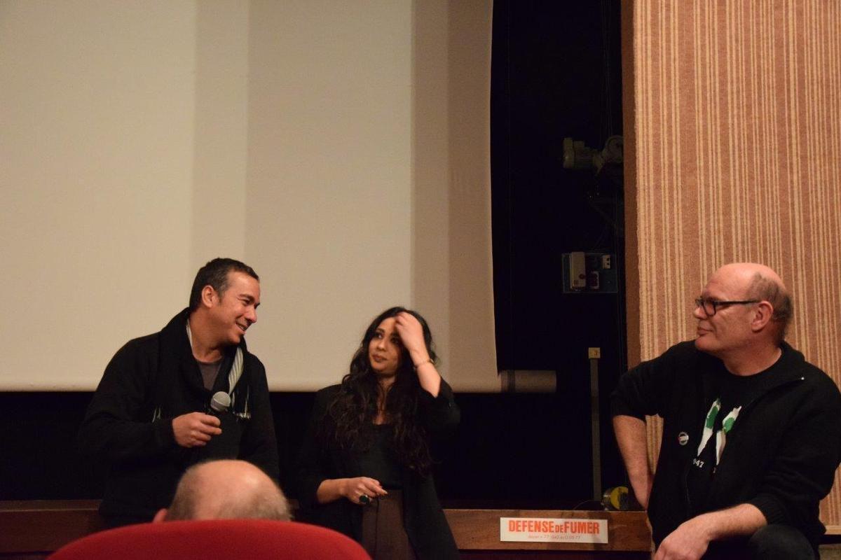 Une salle comble à la Salamandre pour 3000 nuits de Mai Masri et la magnifique actrice palestinienne Maisa Abd Elhadi lors du ciné débat organisé par l'AFPS et la LDH avec La Salamandre (photos Pierre-Yvon Boisnard)