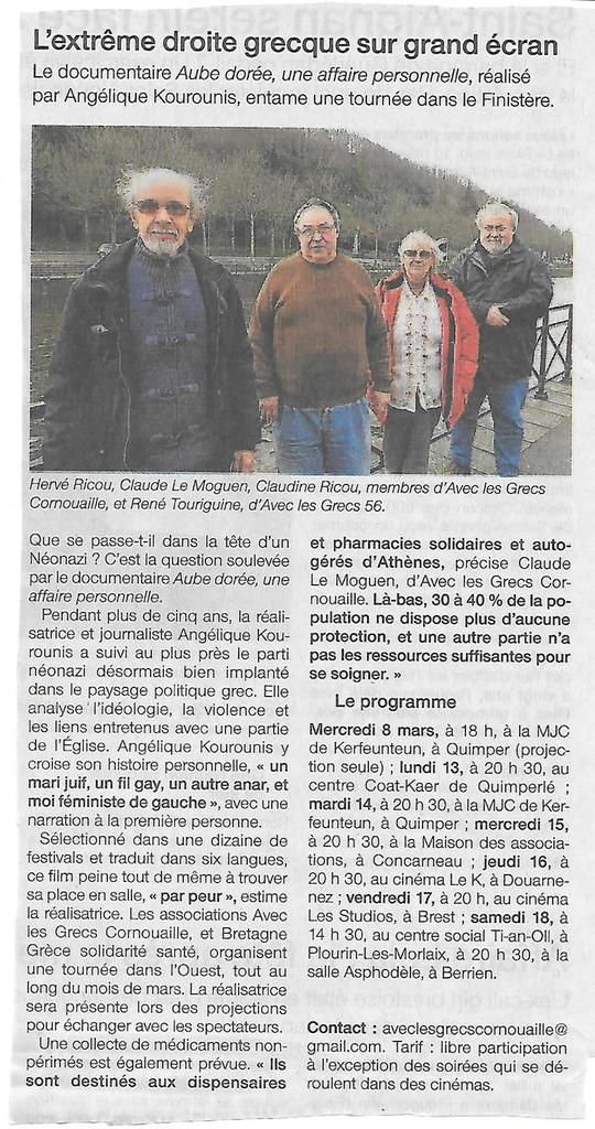 Ouest-France, 8 mars 2017