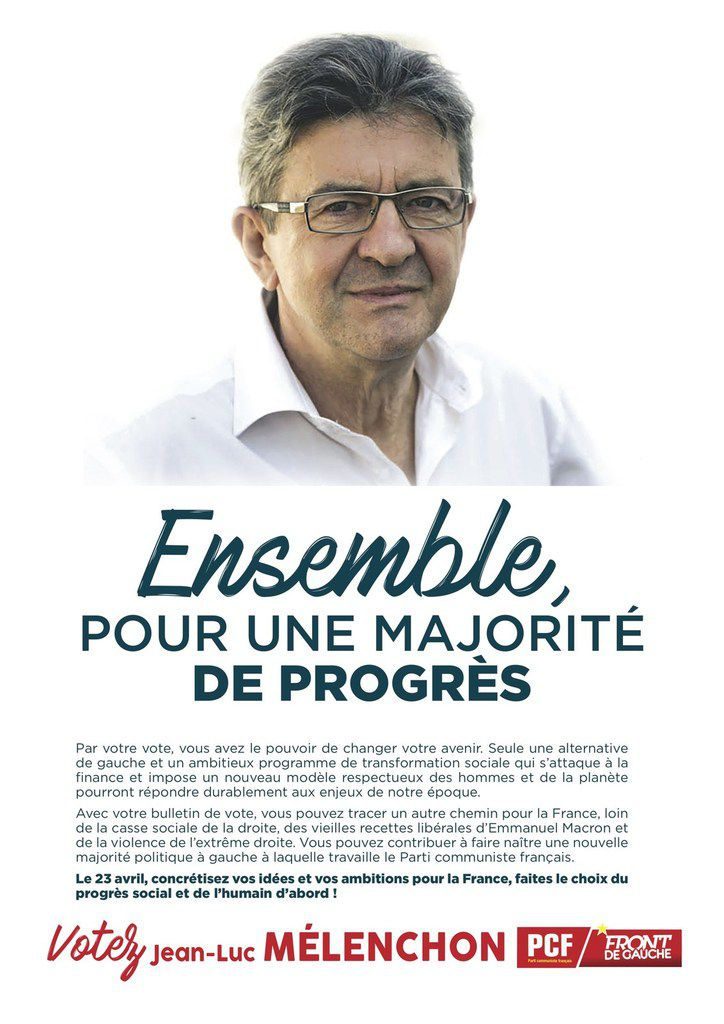 tract national du Parti Communiste - mars 2017