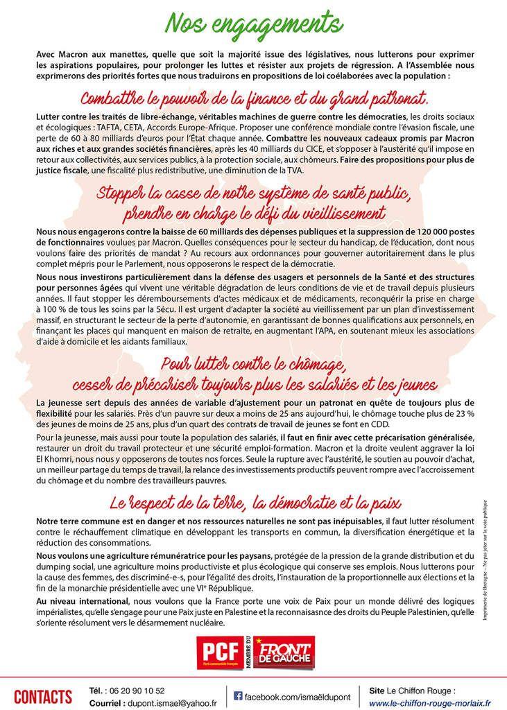 Législatives: réunion publique d'Ismaël Dupont et Muriel Grimardias à Cléder (Créac'h Oalec) le vendredi 2 juin à 18h30