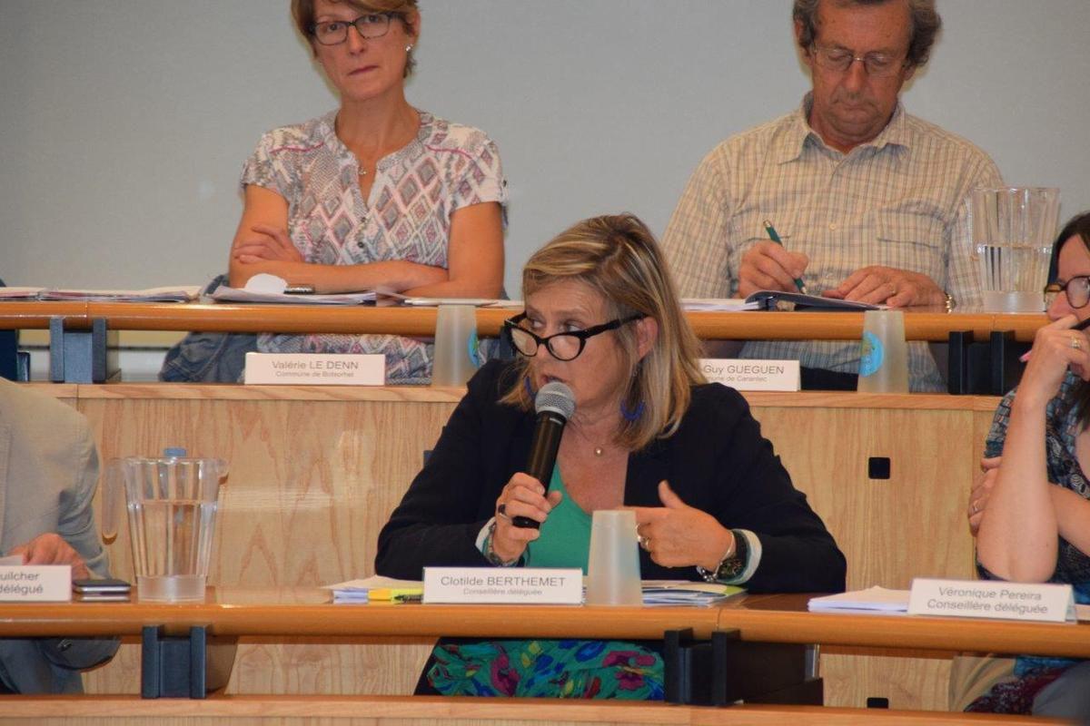 Clothilde Berthemet en charge de l'international a présenté la délibération pour la subvention à la Maison du Monde du Resam pour la mobilité des jeunes et l'aide pour l'internationalisation du territoire (financement de rencontres presses avec les médias étrangers)