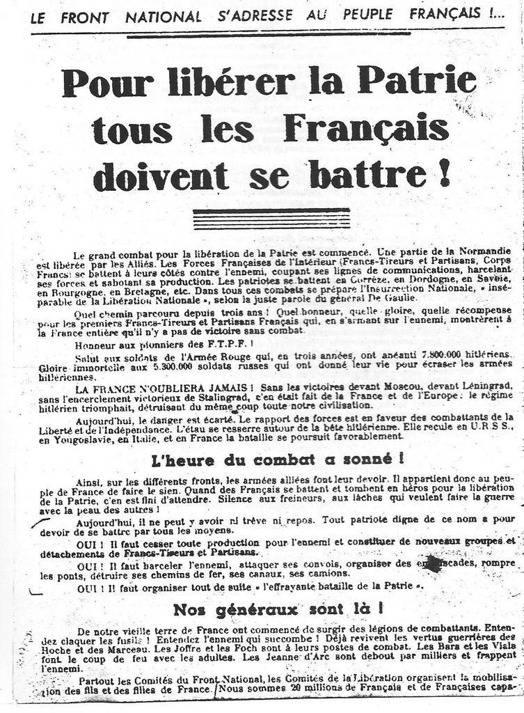La résistance FTP à Morlaix: le témoignage d'Eugène Le Luc recueilli par le Télégramme et Jeannine Guichoux (mémoire universitaire)