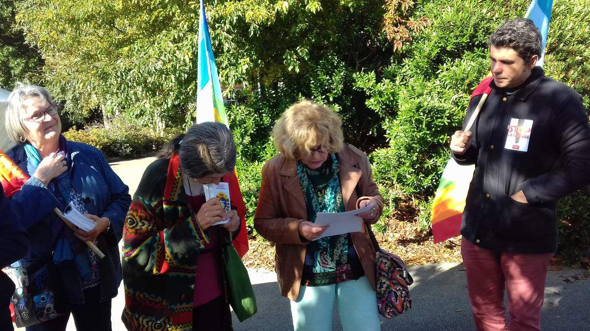 rassemblement pour la Paix Brest 23 septembre 2017 - Square Kennedy - photo Vinko Markov