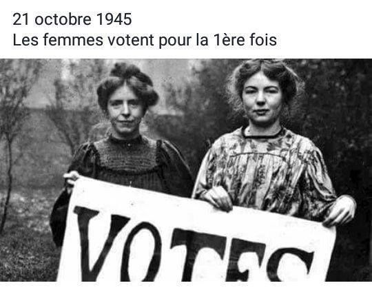 21 octobre 1945 les femmes obtiennent le droit de vote sur une proposition du d put communiste. Black Bedroom Furniture Sets. Home Design Ideas