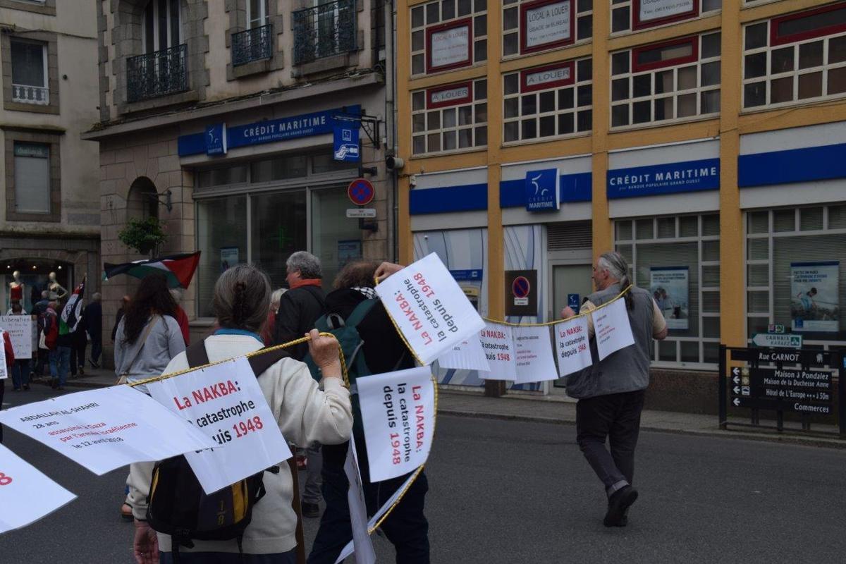 photo de Pierre-Yvon Boisnard sur le rassemblement du 15 mai pour Gaza, square de la Résistance.