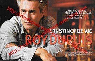 2010/08 - Roy Dupuis: «L'instinct de vie»