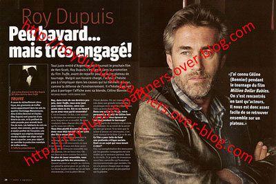 2008/09 - Roy Dupuis, peu bavard... mais très engagé!