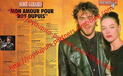 1991/03 - Simé Girard: mon amour pour Roy Dupuis