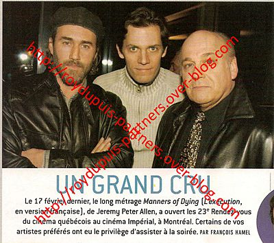 2005/02 - Coup d'envoi des 23es Rendez-vous avec «Manners of Dying»