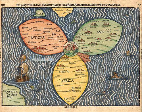 représentation du monde où Jérusalem est au centre