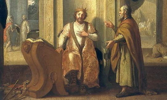 Le roi David et le prophète Nathan