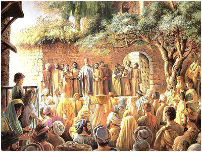 Discours de Pierre, le jour de la Pentecôte