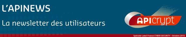 APICRYPT 2 labélisé France CYBER SECURITY`