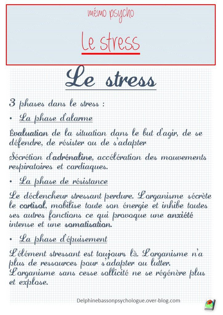 PSYCHO DU TRAVAIL : stress, burn-out