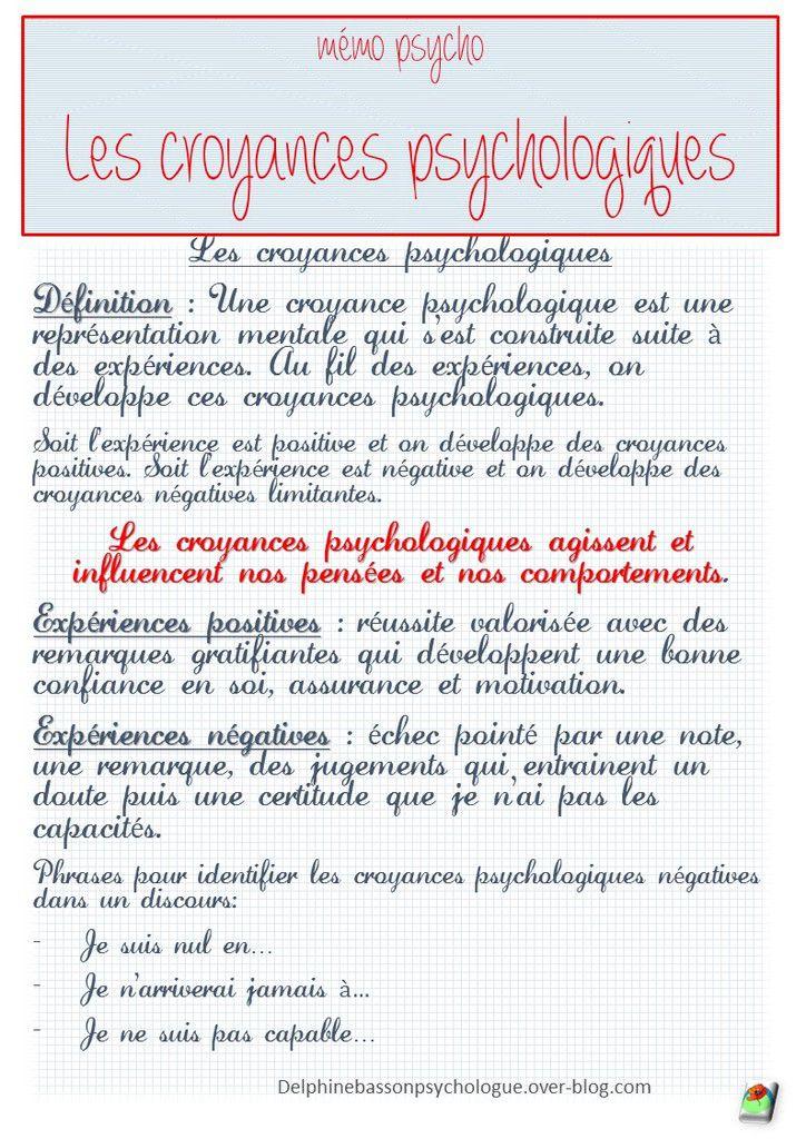 Les croyances psychologiques