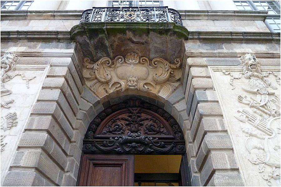 Parlement de Bretagne Rennes-  la porte d'entrée