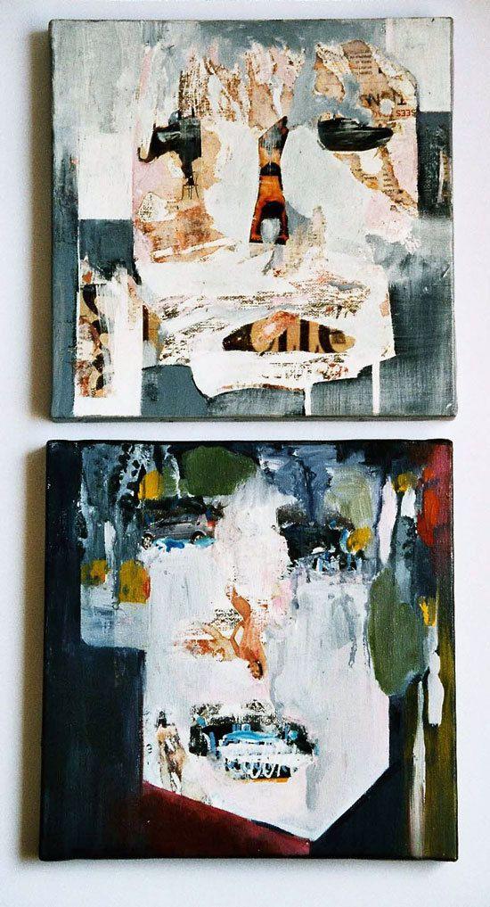 Peintures et collages d'Odile Kopferschmitt