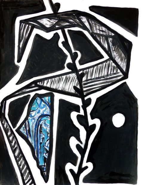 Peinture et collage de Martine Ploirier