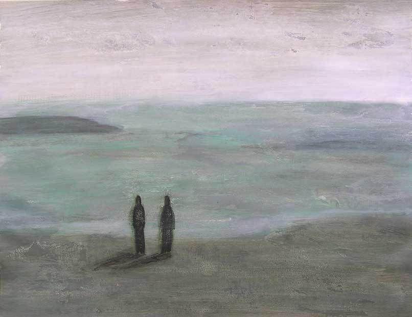 Kati Kukkasniemi 2005 - Mélancolies - Acryliques sur papier 50 x 65 cm