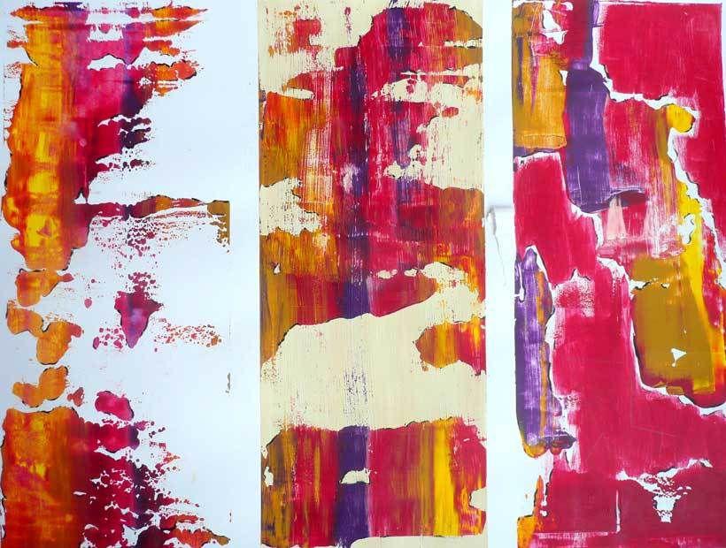 Kati Kukkasniemi 2010 - Les singularitez - Acrylique sur papier 50 x 65 cm