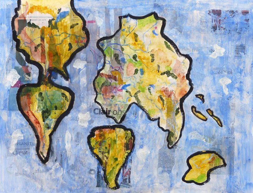 Refaire le monde - Peinture de Sophie Helluin