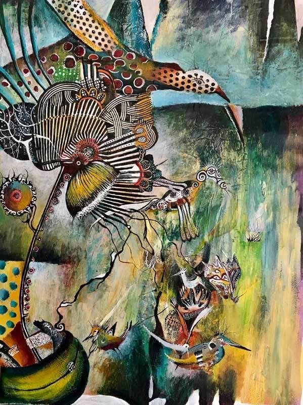 Survol du grand oiseau (2015)