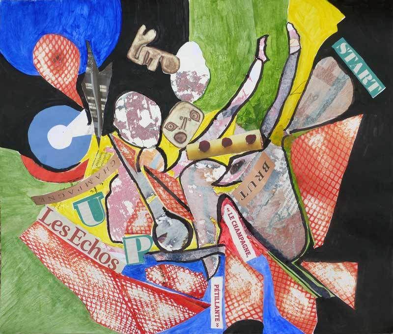 Peinture et collage de Sylvie Boucard