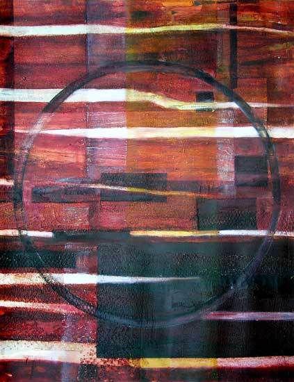 Peinture et collage de Danièle Mengual