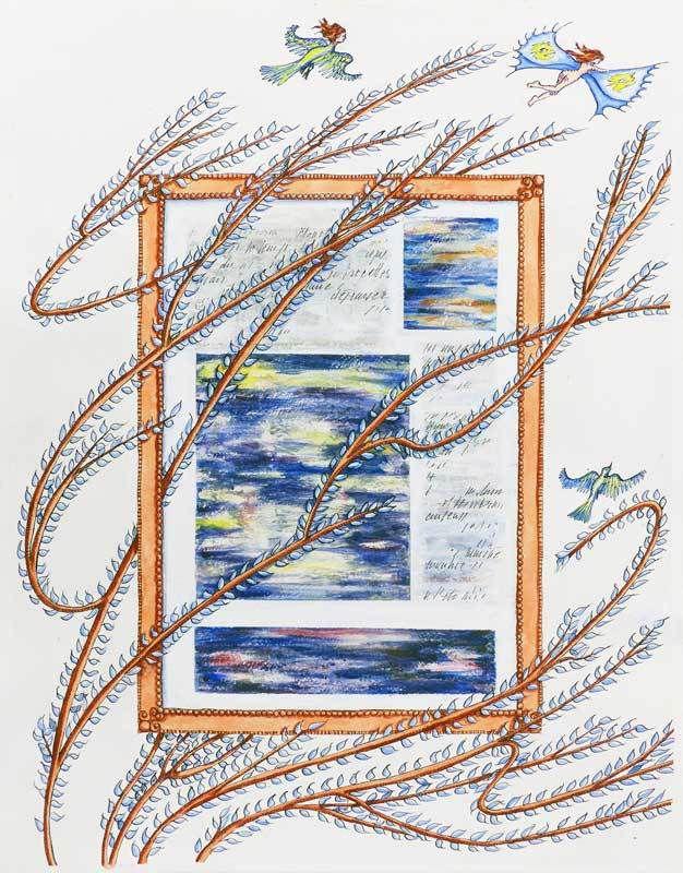 Peinture et collage d'Estelle G.