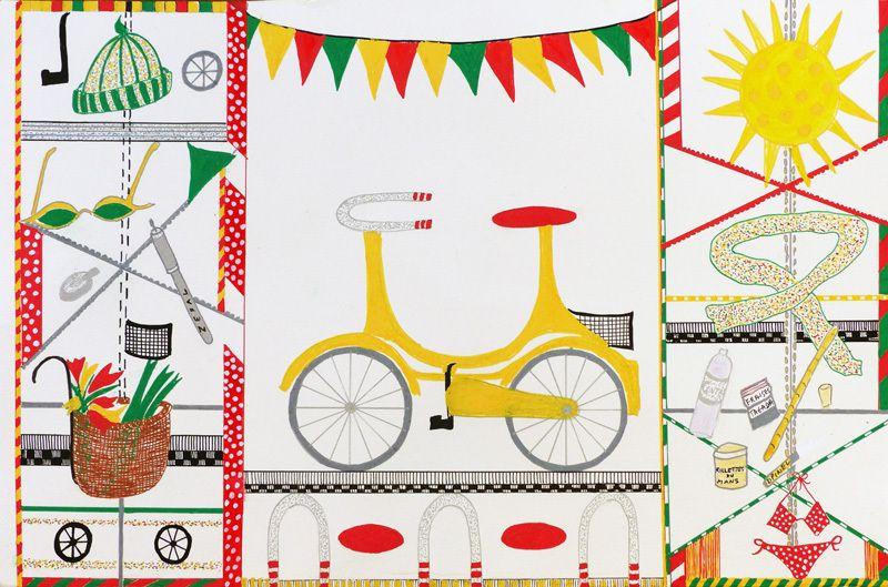 Peinture au vélo de Catherine Maisse