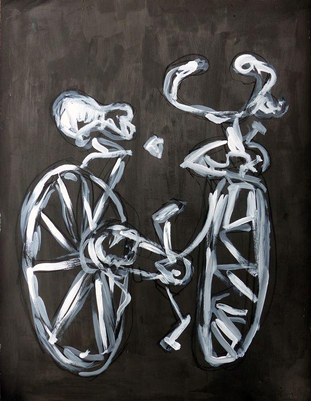Vélo élégamment énergique, par Martine Poirier