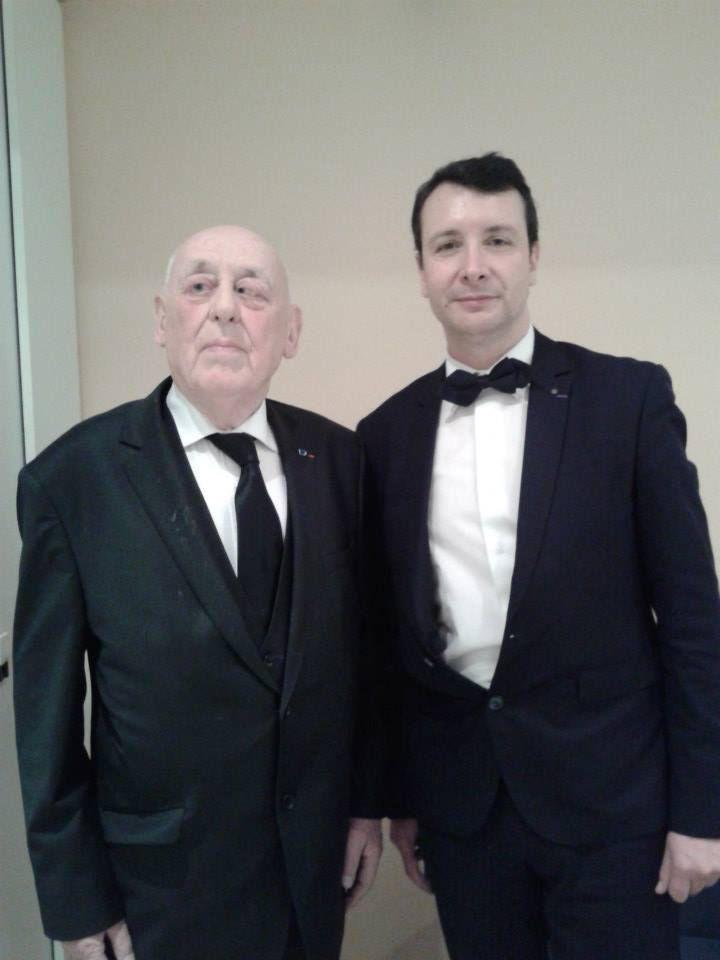 Monsieur Michel SY, en compagnie du président national de l'UGF. Paris, le 13 mars 2015.