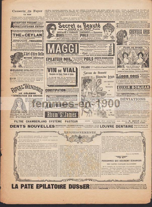 La mode illustrée de juillet 1900 n°29 avec son patron
