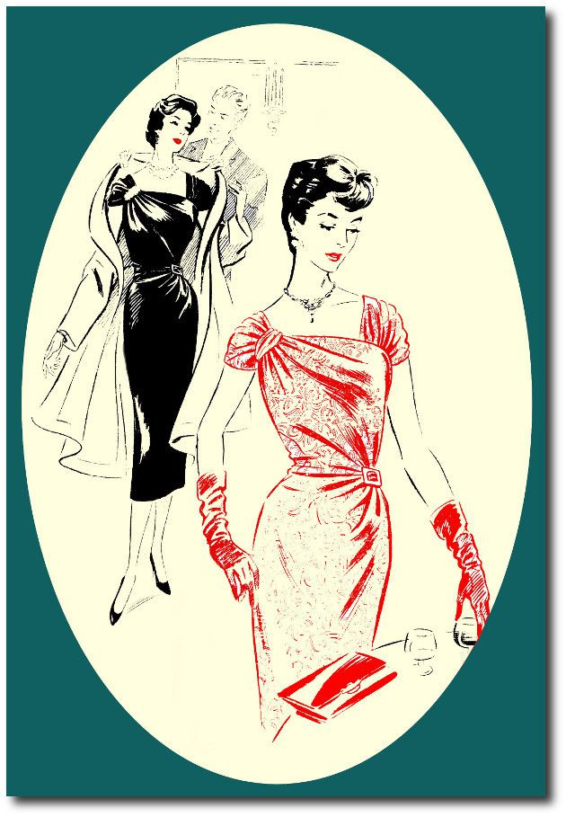 Robe du soir : patron de couture vintage .