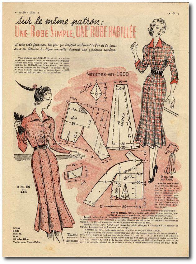 collection privée : année 1951 le petit écho de la mode