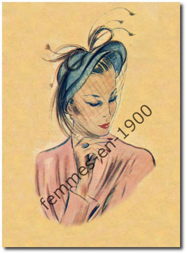 La mode des chapeaux à Paris en 1948
