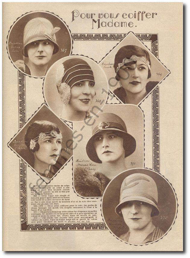 Les chapeaux à la mode :créations des grands couturiers .