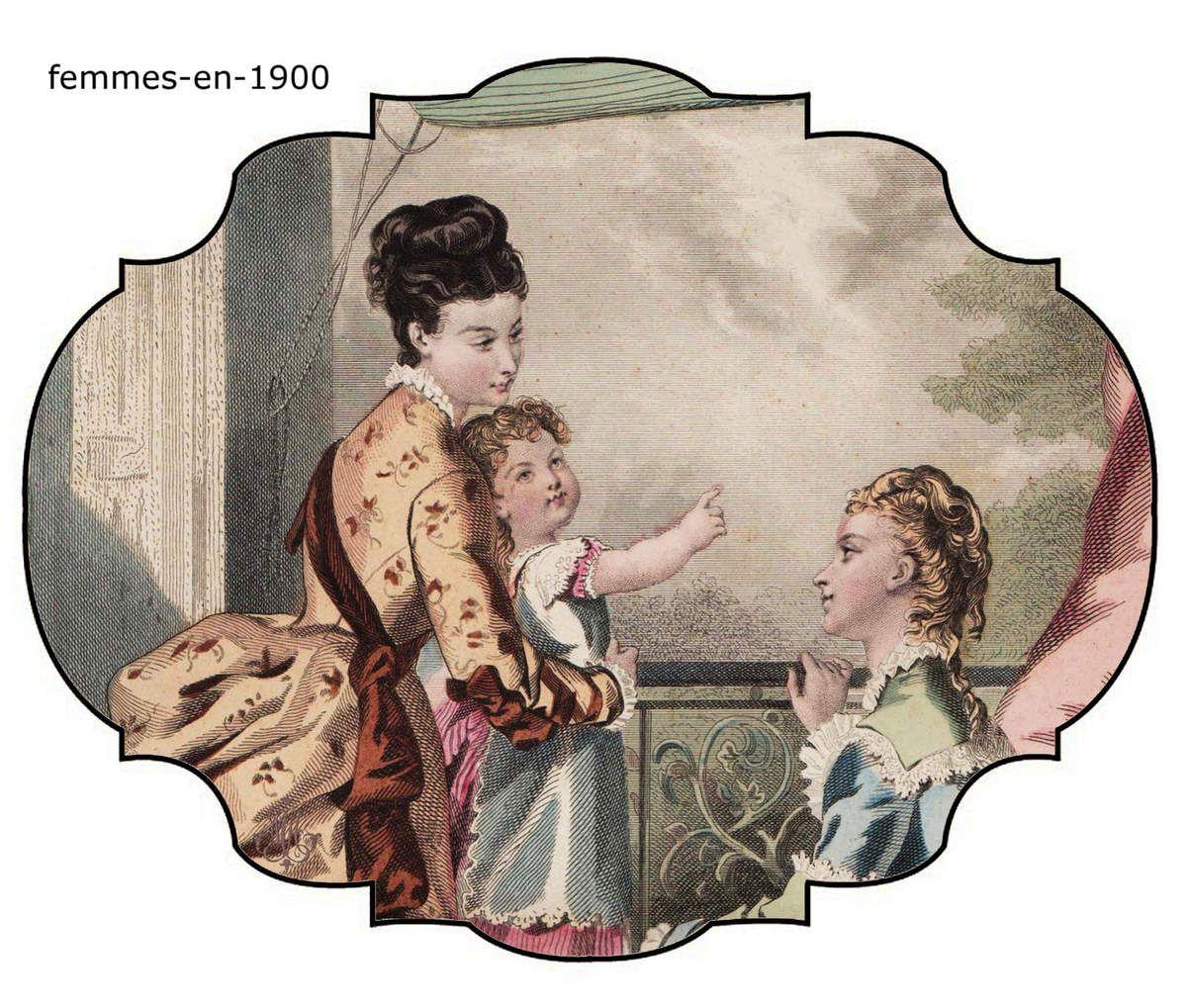 L'enfant :gravure de la mode illustrée