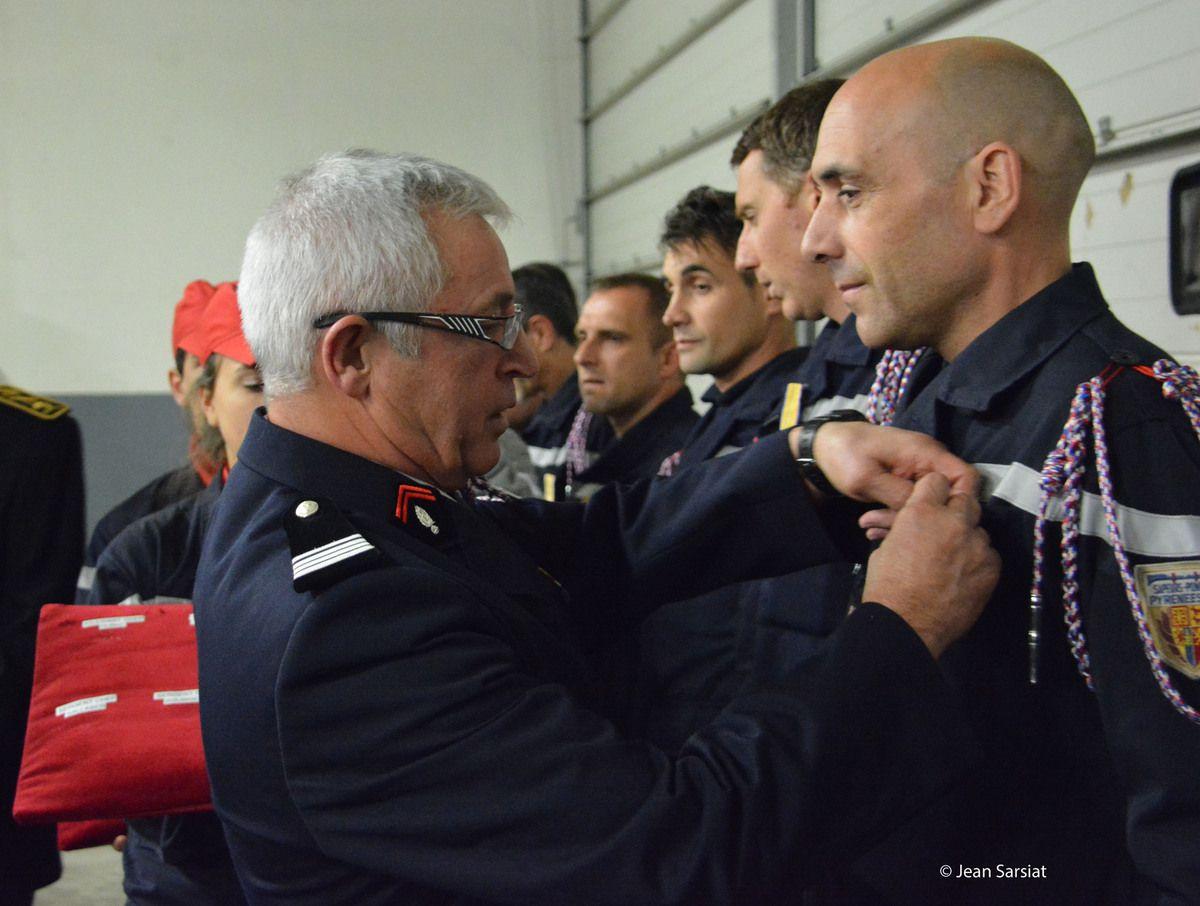 POMPIERS : LE COMMANDANT GUY ROMAIN PART A LA RETRAITE