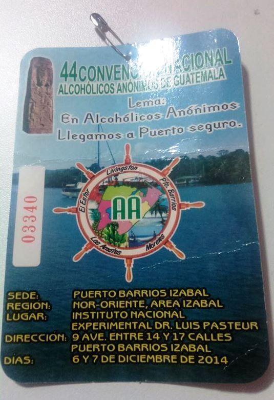 GUATEMALA : 44 ans Alcohólicos Anónimos®
