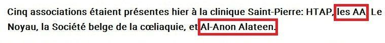 Belgique : AA & Al-Anon à la Clinique Saint-Pierre d'Ottignies