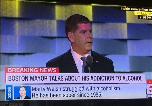 Le maire de Boston : 'My name is Marty Walsh, and I'm an alcoholic'