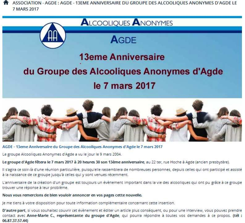 FRANCE Alcooliques Anonymes®