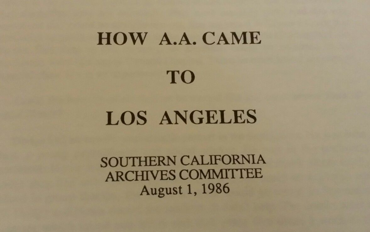 &quot&#x3B;HOW AA CAME TO LOS ANGELES&quot&#x3B;