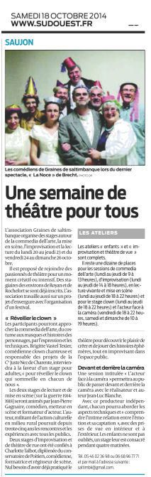 18 octobre 2014- stages G2S